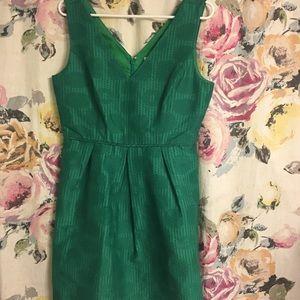 NWOT Emerald Green J Crew Fit n Flare Dress